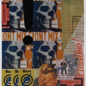 Original Handmade Collage, Alcohol Is...?, Propoganda Mashup, 11x14in