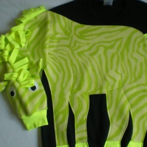 lime green ZEBRA applique sweatshirt, Animal shirt, zoo animals. Custom adult size/color, small, medium, large, xlarge, Unisex adult sizes