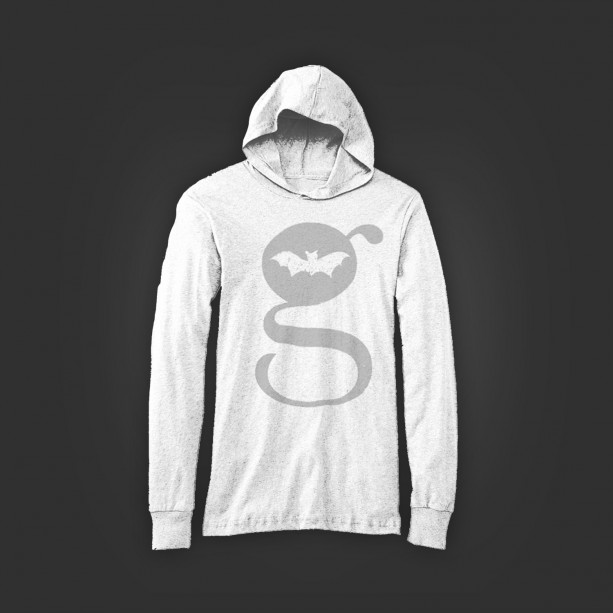 G Design Unisex Long Sleeve Jersey Hoodie White