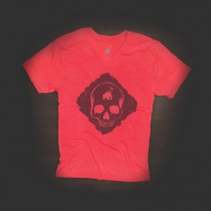 T Shirt Urban V Neck Skull for Men and Women