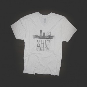 T Shirt Urban V Neck Ship Bottom White