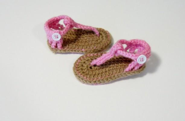 Baby sandals, crochet baby sandals, baby flip flops, crochet sandals, sandals, pink sandals, girls sandals, girls crochet sandals, flip flop