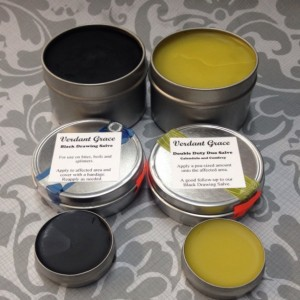 Black Drawing Salve and Comfrey & Calendula Salve / Balm Set