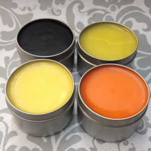 Large Salve Sample Pack 4-4 oz Tins: Black Drawing Salve, Muscle and Joint Balm, Mom's Marigold Salve, and Comfrey-Calendula Salve