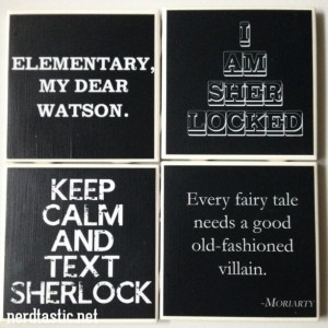 Sherlock Coasters (Set of 4)
