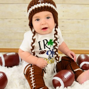 Football Beanie - Sports Photo Prop, football hat, football clothing, fall hat, kids football hat