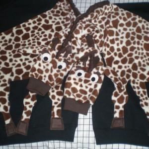 Pair of GIRAFFE sweatshirts. Two Giraffe shirts. Couple sweatshirts. Your choice of color and size