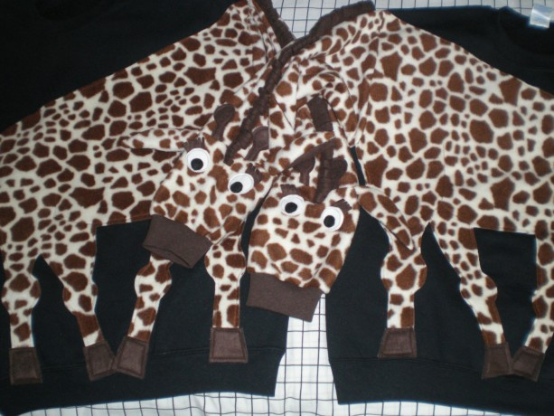 Pair of GIRAFFE sweatshirts. Two Giraffe shirts. Couple sweatshirts. Your choice of color and size