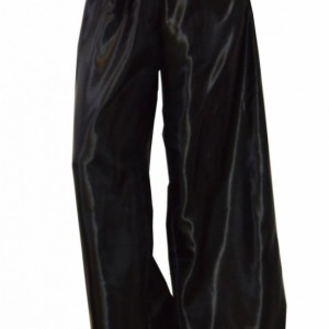 Satin wide leg pants with elastic waist band and sash