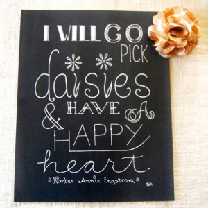 Daisies // Typography Print // Happiness Art Print // Saying About Happiness // Flower Quote Artwork