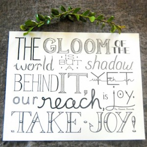 Take Joy // Hand Lettering Print // Choosing Joy Quote // Fra Giovanni Giocondo // Finding Joy Quote