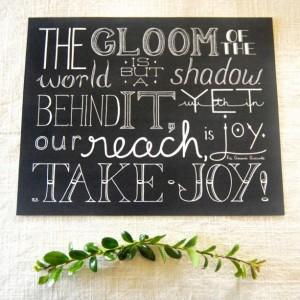 Take Joy // Hand Lettering Print // Choosing Joy Quote // Fra Giovanni Giocondo // Finding Joy Quote