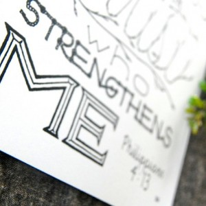 I Can Do // Word Art Print // Philippians 4:13 // God's Strength Calligraphy // Christ's Strength Quote