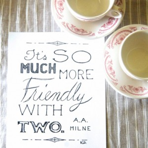 Friendly // Calligraphy Art Print // Hand Lettering // Love Quote Typography // Quote About Friendship