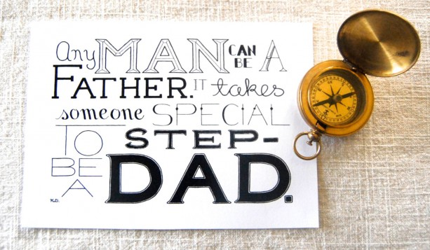 Step Dad Word Art Print Step Dad Quote Quote For