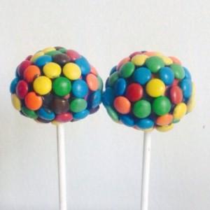 M& M Cake Pops (party favor, candy buffet, dessert table)