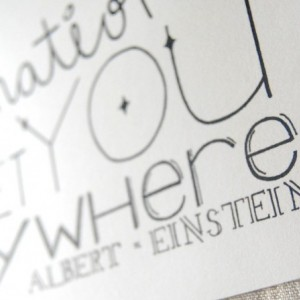 Logic // Typography Print // Imagination Quote // Art About Imagination // Logic Quote // Albert Einstein Quote