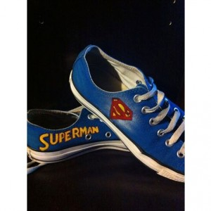 Superman Converse lowtops, Custom Converse, superhero, Sneakers