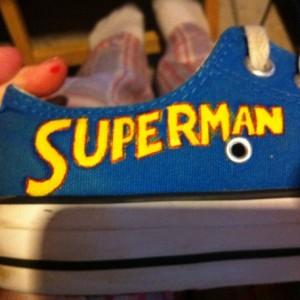Superman Converse lowtops, Custom Converse, superhero, Sneakers