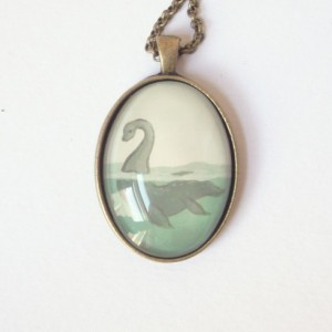 Loch Ness Monster Necklace - Nessie Pendant - Sea Monster