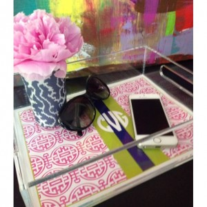 SMALL 8.5 x 11 personalized lucite trays