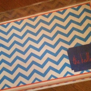 LARGE 11 x 17 personalized lucite trays