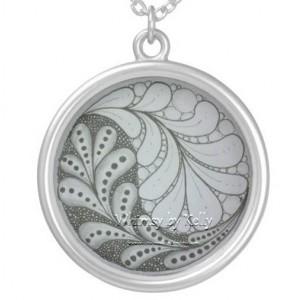 Hand Drawn Ying and Yang pendant