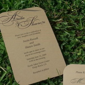 Beautifully Scripted Personalized Wedding Invitation Set
