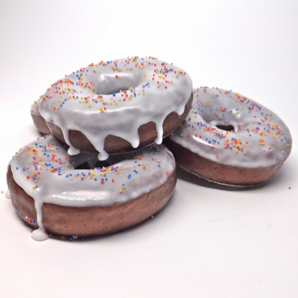 Chocolate Fudge Frosted Donut  And Sprinkles Glycerin Soap