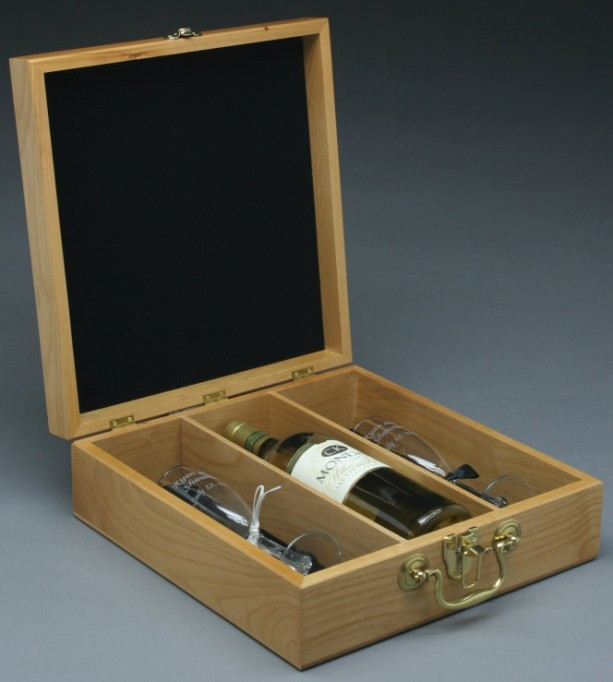 Personalized wine box custom wood wine box made in usa for Timber wine box