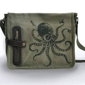 Ninja Octopus messenger bag KHAKI GREEN