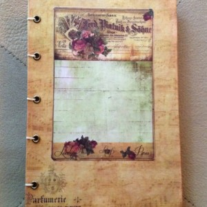 Vintage Parisian Inspired Mixed Medium Journal