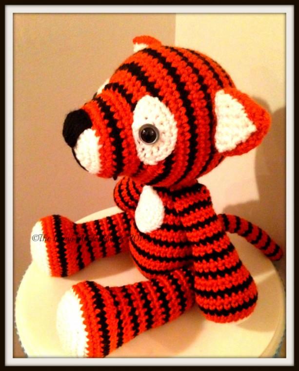 Crochet Tiger Handmade Stuffed Tiger Stuffed Animals In Handmad