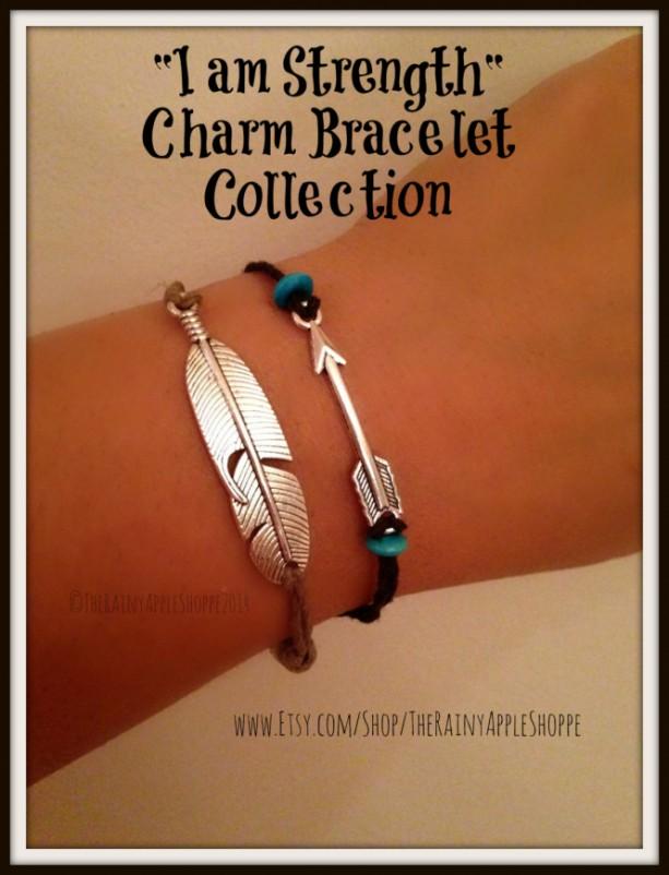 Popular native american charm bracelet, handmade charm bracelet, arrow ch  GU36