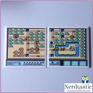 Super Mario Brothers 3 Map Coasters (Set of 2)