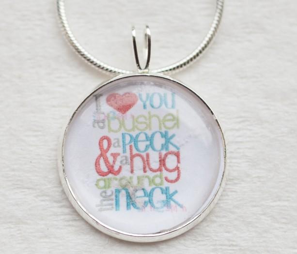 I Love You A Bushel And A Peck Necklace: I Love You A BUSHEL & A PECK Necklace-hug Around The Neck