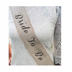 Rustic Bridal Shower Sash -Bride To Be Bachelorette PICK A COLOR
