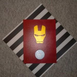 Minimalist Iron Man on Canvas