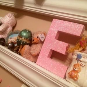 Glittered paper mâché block letters