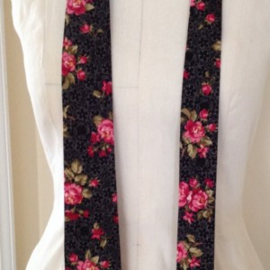 Black Rose Print Necktie