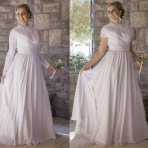 Aliyah Modest Chiffon Wedding Dress