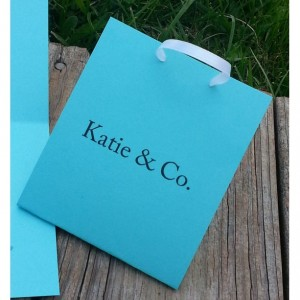 Little Tiffany Blue Bag Invite - Bridal / Shower / Birthday/ Party Invite