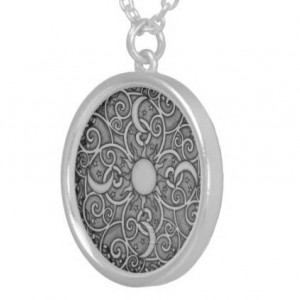Mandala pendant necklace, zen, celestial, moon, stars, yoga inspired