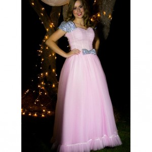 Emmeline Sequin & Tulle Modest Prom Dress