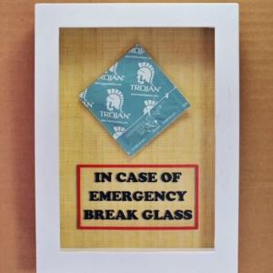 In Case of Emergency Break Glass - Condom Gift - Sex Lover Gift, Gift for Him, Gag Gift, Gift for Husband, Men, Gift for Boyfriend Valentine