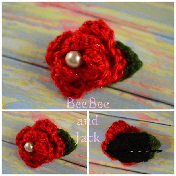 Flower Hair Pin- Crochet Flower Hair Pin- Crochet Flower- Daffodil Hair Pin- Rosette Hair Pin- Crochet Rosette Hair Pin