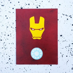 Minimalist Iron Man on Canvas