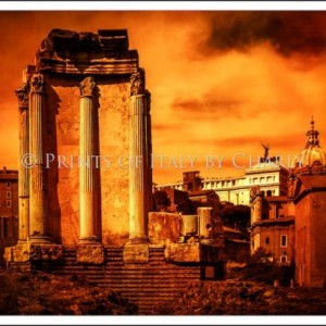 "Rome Burning - 24"" x 16"" Italy Print 
