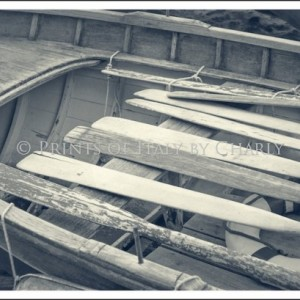 Oars 24 X 16 Italy Print Photography Row Boat Wood