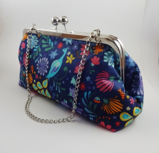 Colorful Peacock Clutch